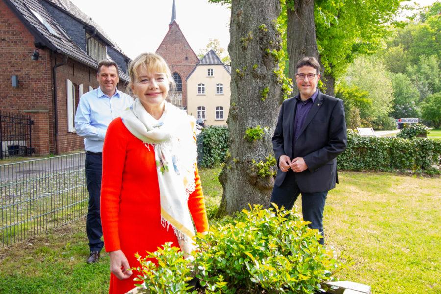 Dr. Peter Paic (stv. SPD-Kreisvorsitzender), Kerstin Löwenstein (Landtagskandidatin) und René Schneider (SPD-Kreisvorsitzender)